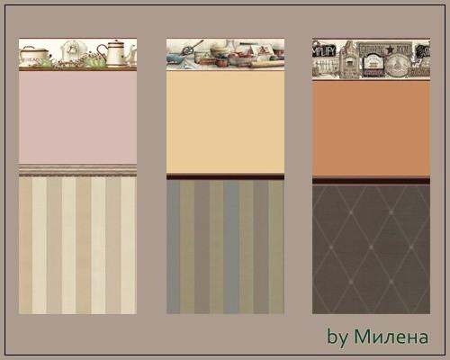 Sims 3 by Mulena: Seamless wallpaper STICK