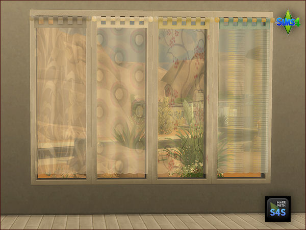 Arte Della Vita: 4 curtain sets in transparent and non transparent version