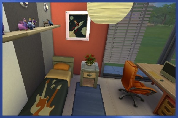 Blackys Sims 4 Zoo: Basement in Blue by Kosmopolit
