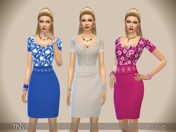 The Sims Resource: Tris dress by Paogae