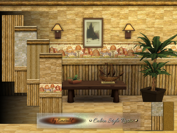 The Sims Resource Cabin Style Rustic By Emerald Sims 4