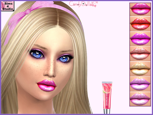 The Sims Resource: Candy Doll Glam Cutie Gloss by DivaDelic06