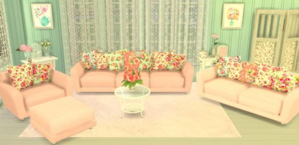 Sunshine & Roses Custom Content: Shabby Chic Living Room Set