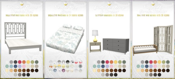 Simsational Designs Bayside Furniture Set 20 New Items