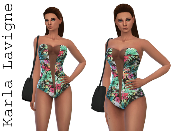 The Sims Resource: Tropical Swimsuit by Karla Lavigne