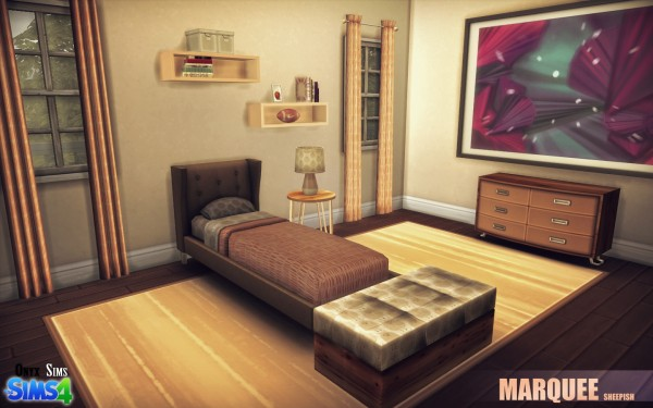Onyx Sims Marquee Bedroom Set Sims 4 Downloads