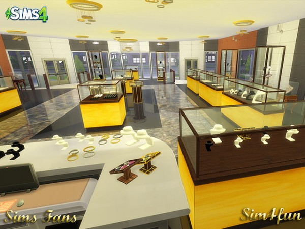 Sims Fans Jewelry Store By Sims 4 Fun Sims 4 Downloads