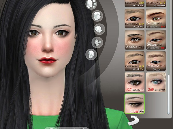 The Sims Resource: Eyebrows 28F by S Club