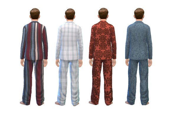 History Lovers Sims Blog: Early 1900s Style Mens Pajama Recolors