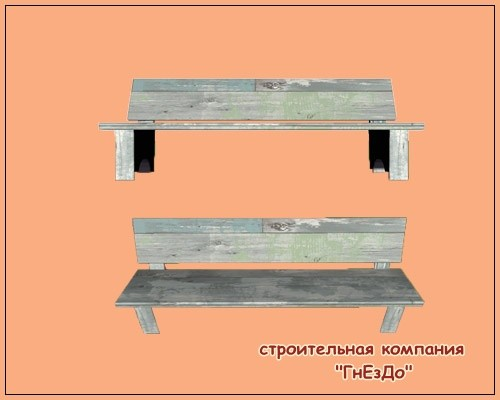 Sims 3 by Mulena: Street benches for the garden Splinters