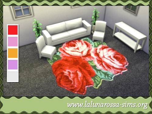 La Luna Rossa Sims: Flower Rugs, 4x4