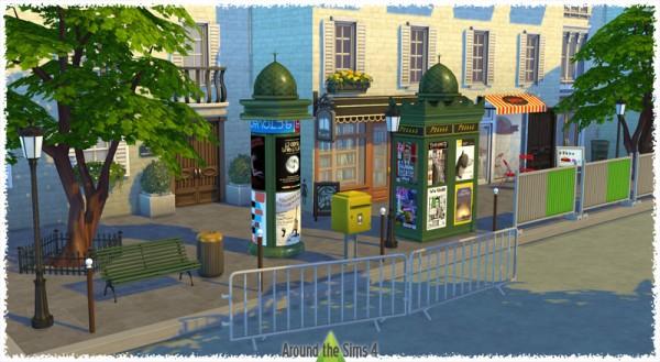 Around The Sims 4: Community Lot: Paris Street • Sims 4 ...