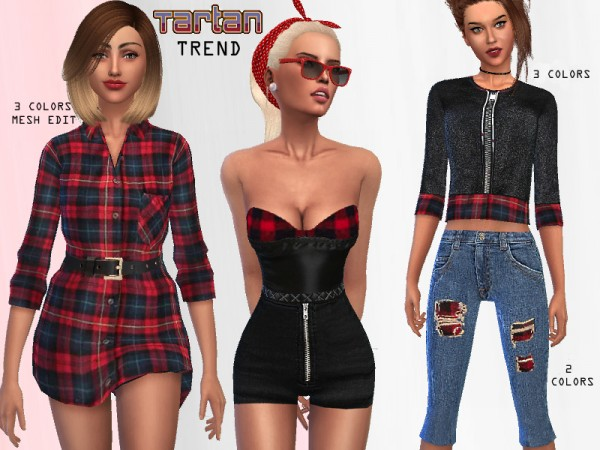The Sims Resource: Tartan Collection Set by Puresim