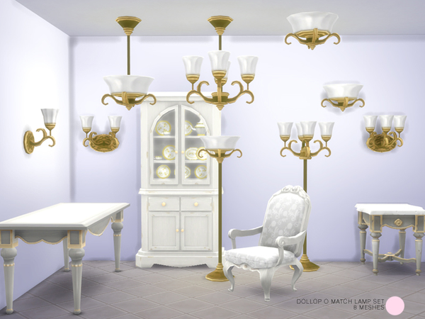The Sims Resource: Dollop O Match Lamp Set by DOT