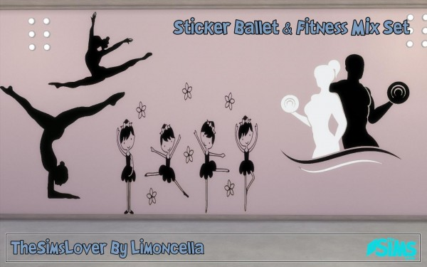 The Sims Lover: Sticker Ballet & Fitness Mix set by Limoncella