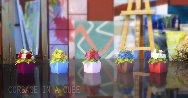 JS Boutique: Flowers in a Cube