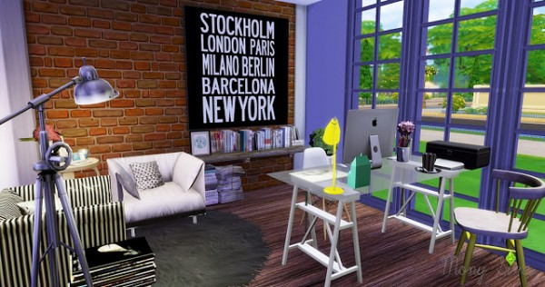 Mony Sims The First Home Office Sims 4 Downloads