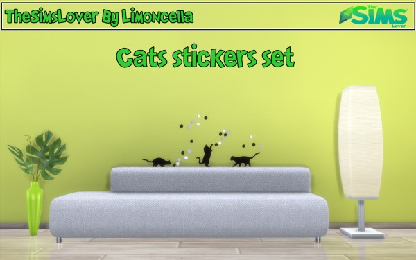 The Sims Lover: Cats stickers set by Limoncella