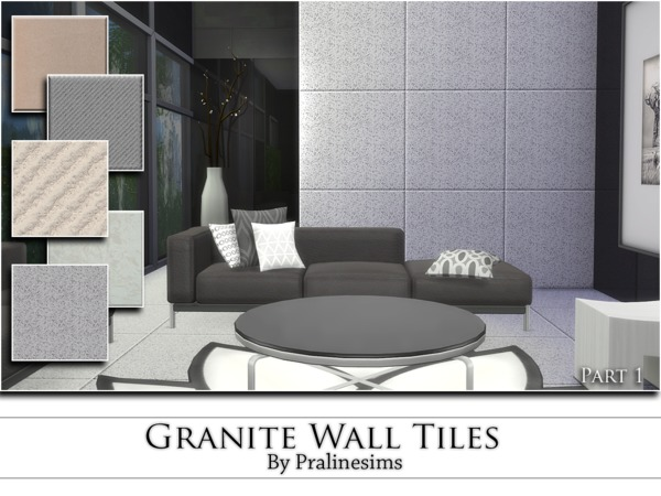 The Sims Resource: Granite Wall Tiles by Pralinesims