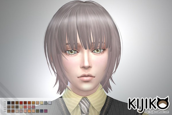 Kijiko: Bob with Straight Bangs (for Male)