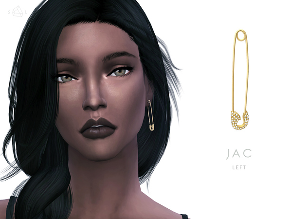 The Sims Resource: Safety Pin Earring & Necklace Set JAC by Starlord