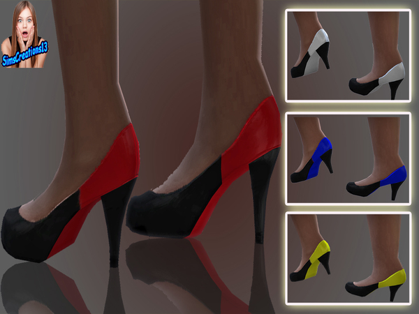 The Sims Resource: Black And Coloured Shoes by SImcreations13