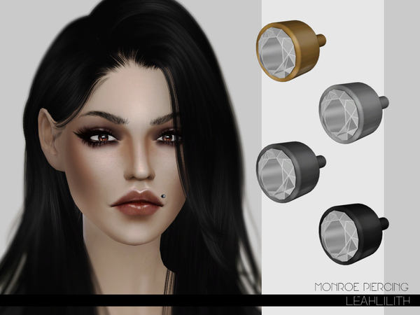 The Sims Resource: Monroe Piercing by LeahLilith