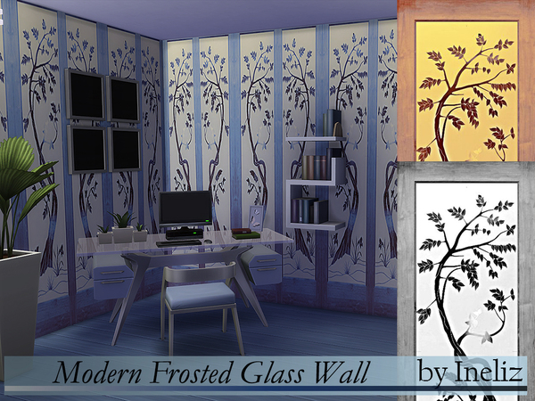 The Sims Resource: Modern Frosted Glass Wall by Ineliz
