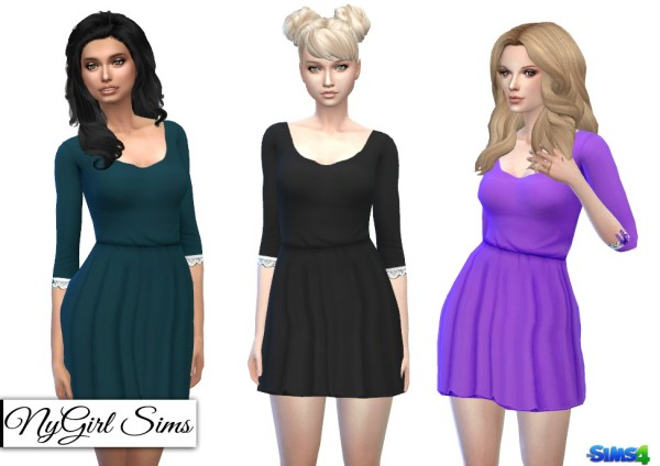 NY Girl Sims: Gathered Corset Back Dress