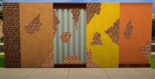 Sims  Downloads Build Mode Wall Cracks