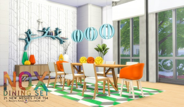 Simsational designs: NOX Dining Set