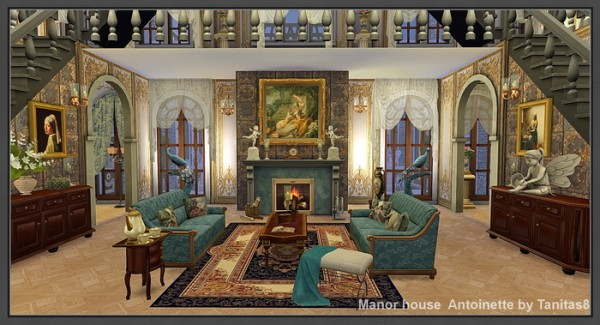 Tanitas Sims Manor House Antoinette Sims 4 Downloads