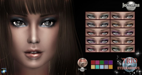 Jom Sims Creations: New ombres eyeshadow