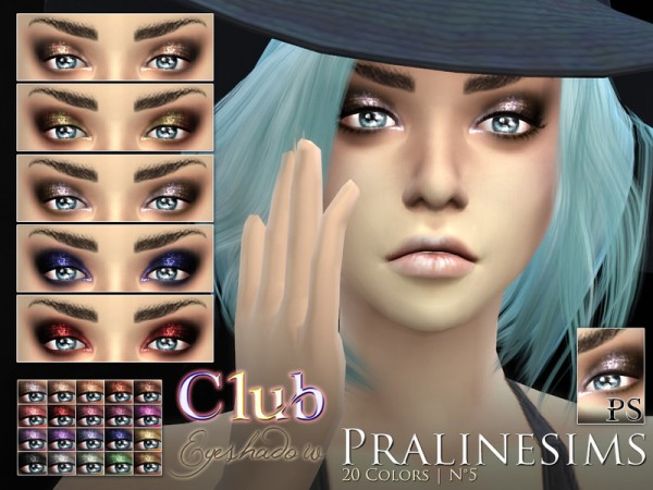 The Sims Resource: Club Eyeshadow by Pralinesims