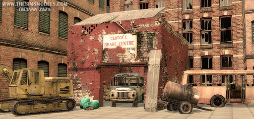The Sims Models: Old cars (decor) part 1 by Granny Zaza