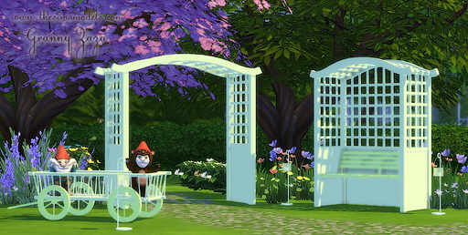 The Sims Models: Garden objects by Granny Zaza
