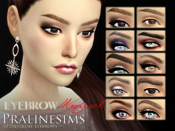The Sims Resource: Eyebrow Megapackby Pralinesims