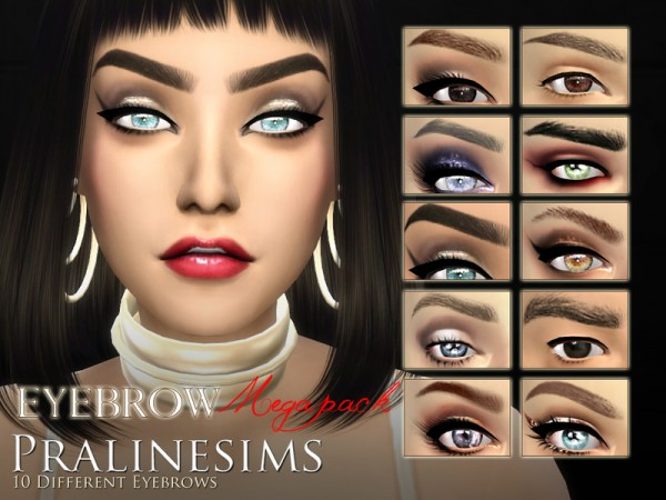 The Sims Resource Eyebrow Megapackby Pralinesims Sims 4