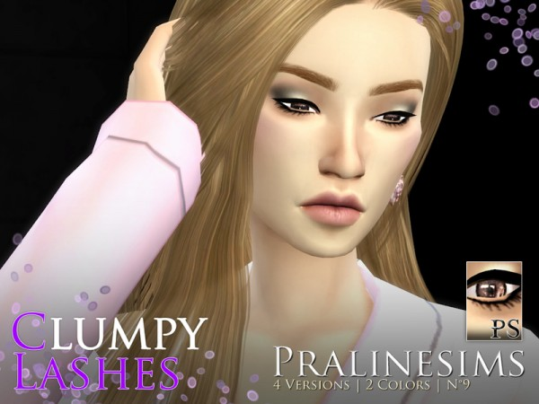 The Sims Resource: Clumpy Lashes Pack by Pralinesims
