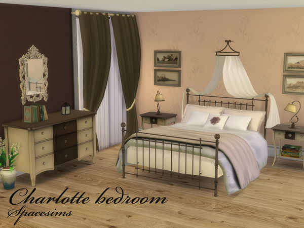 The Sims Resource Charlotte Bedroom By Spacesims Sims 4 Downloads