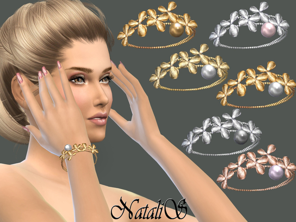 The Sims Resource: Orchid flowers bracelet right by NataliS