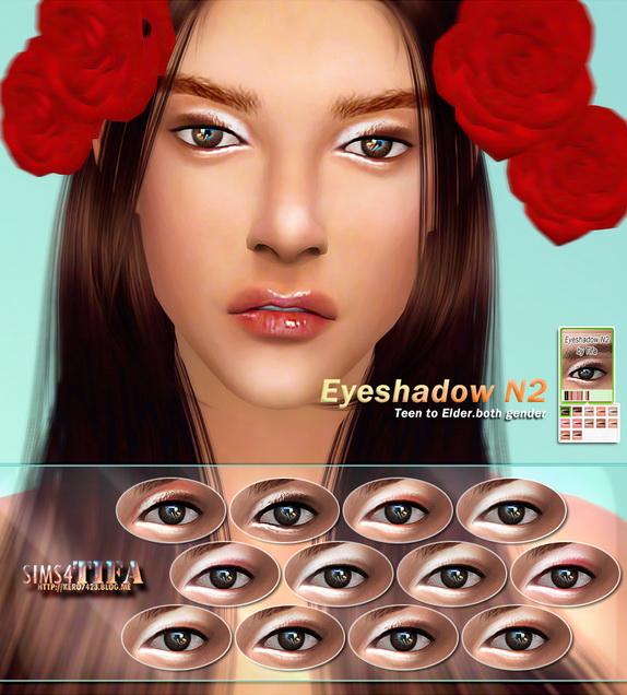 Tifa Sims: Eyeshadow/Eyeliner N2