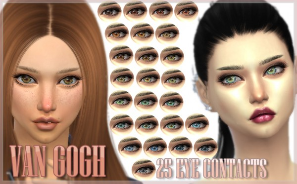 Mod The Sims: Van Gogh   25 Eye Contacts by kellyhb5
