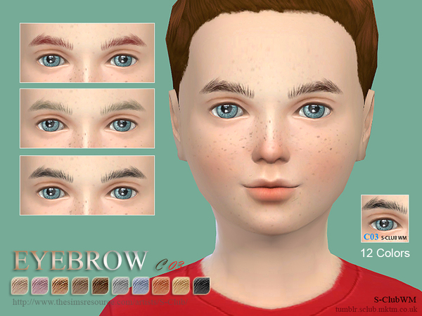 The Sims Resource: Eyebrows C03 by S Club