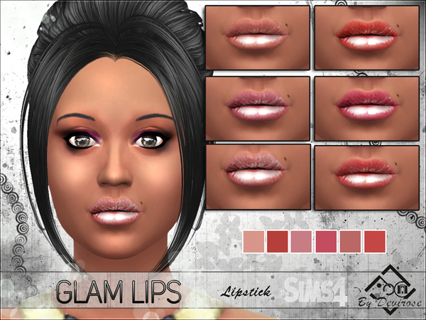 The Sims Resource: Glam Lips by Devirose