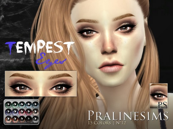 The Sims Resource: Tempest Eyes by Pralinesims