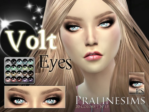 The Sims Resource: Volt Eyes by Pralinesims
