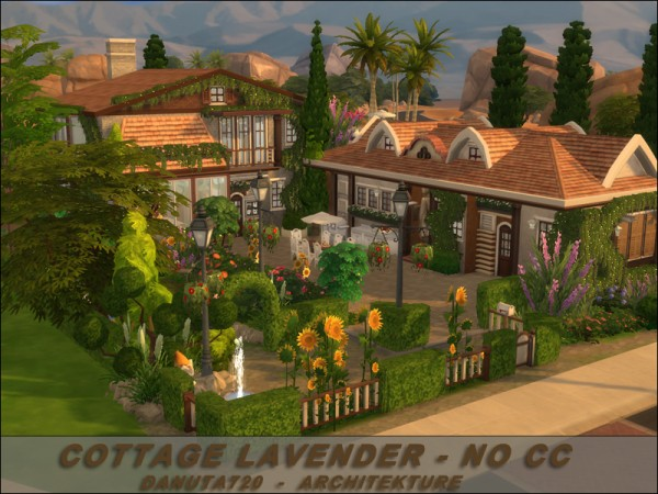 The Sims Resource Cottage Lavender By Danuta720 Sims 4