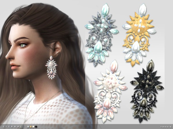 The Sims Resource: Eternal Earrings by toksik