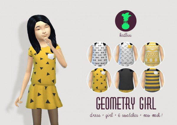 Budgie2budgie: Geometric dress for girls